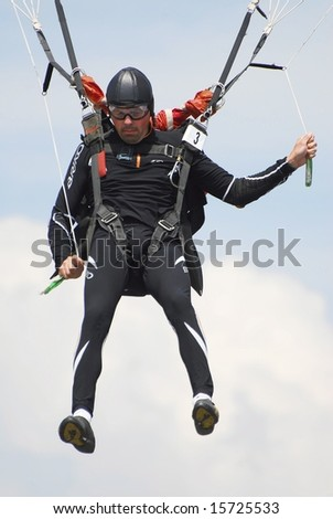 Savin Andrey of Russia participates in FAI - World parachuting championship, 26 july- 2 august, 2008 in Lucenec - Bolkovce, Slovakia