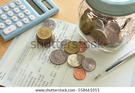 Saving Account Book and Statement from Bank for Business Finance Loan