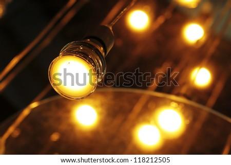 SAVING BULBS LAMPS ECOLOGICAL ENVIRONMENT FRIENDLY - stock photo