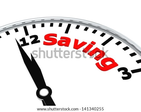 Saving clock - stock photo