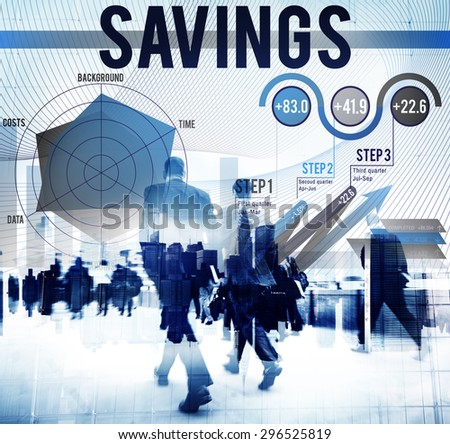 Saving Economy Finance Profit Banking Concept - stock photo