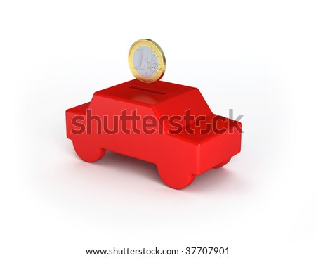 Saving for a car euro edition - check portfolio for dollar edition or variations of this concept - stock photo