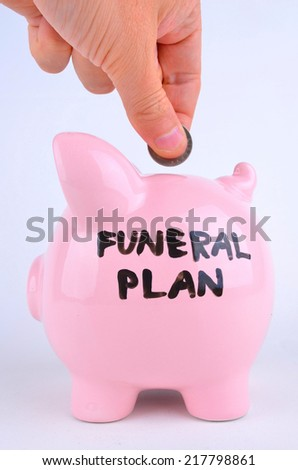 Saving For A Funeral - stock photo