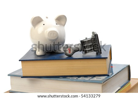 saving for college or university - stock photo