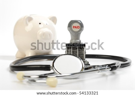saving for retire and doctor bills - stock photo