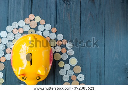 Saving for retirement, Saving for invest, Saving for stability. - stock photo