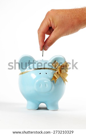 Saving for something special. - stock photo