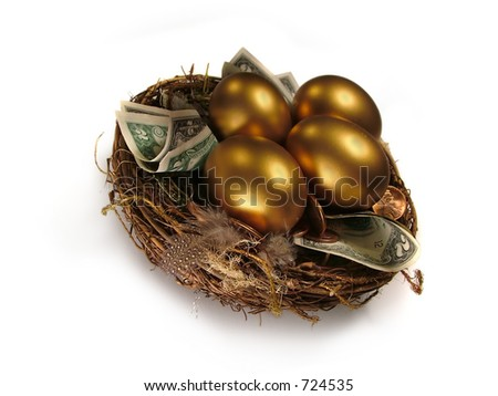 Saving for the Future. Nest Egg metaphor. - stock photo