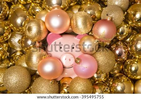 saving money at christmas abstract - stock photo