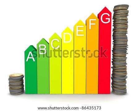 saving money due to energy efficiency - stock photo