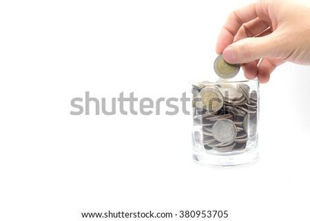 Saving money for the future. - stock photo