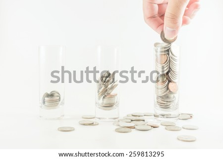Saving money with growth asset - stock photo