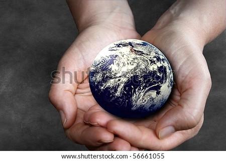 Saving the Planet - stock photo