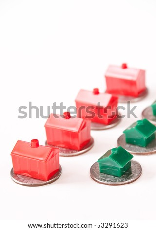 Saving Up for a New Home - stock photo