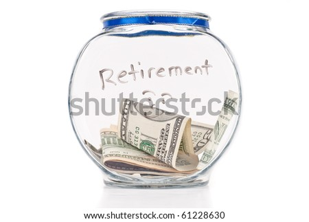 Saving Up For Retirement - stock photo