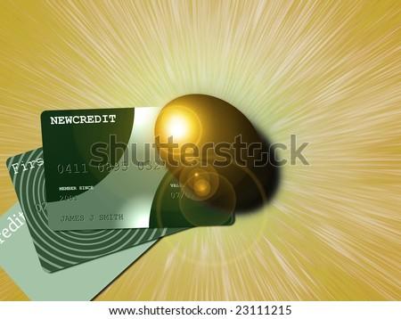Savings and credit - stock photo