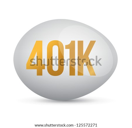 savings 401k financial planning retirement design over a white background - stock photo