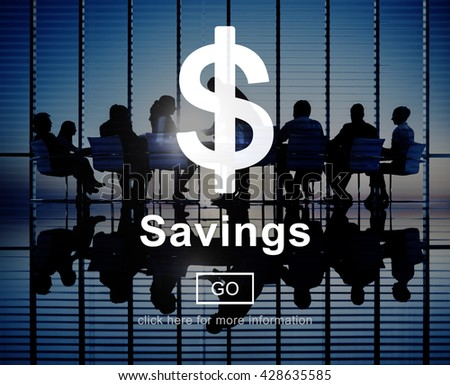 Savings Money Financial Accounting Banking Concept - stock photo