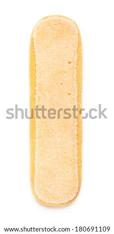 savoiardi, cookie for tiramisu, isolated on white - stock photo