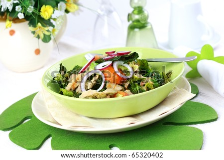 Savoy cabbage stew with carrot - stock photo