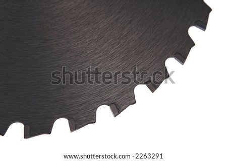 saw blade isolated on white background III