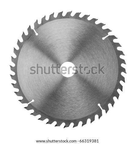 Saw blade on a white background - stock photo