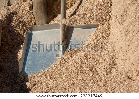 sawdust and shovel
