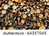 Sawed Firewood Dropped In a Pile In The Forest - stock photo