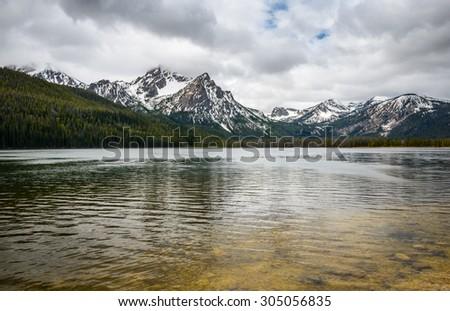 Sawtooth Mountains - stock photo