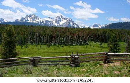 Sawtooth Mountains, Idaho - stock photo