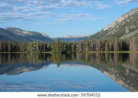 Sawtooth Mountains, Idaho - stock photo