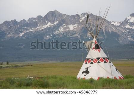 Sawtooth tepee - stock photo