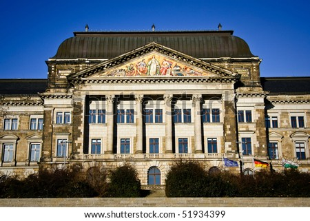 Saxon State Ministry of Finance in Dresden, Germany - stock photo