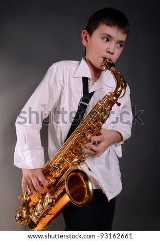 saxophonist - stock photo