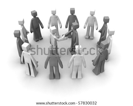 Say no to racism concept handshake between races for peace 3d illustration