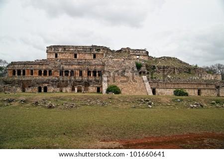 Sayil main palace. - stock photo