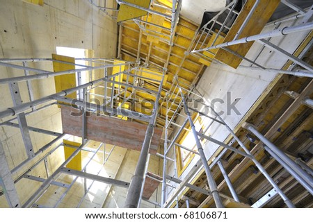 Scaffold in a House - stock photo