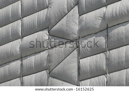 scaffold with awning - stock photo