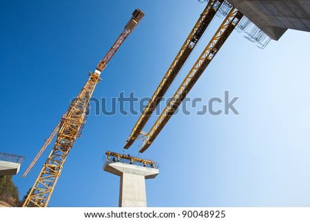 scaffolding, construction site - stock photo