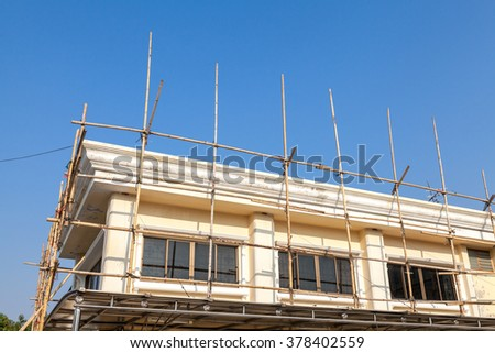 Scaffolding for home repairation