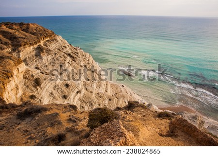 Scala dei Turchi, rocky cliff on the coast of Realmonte, southern Sicily, Italy.