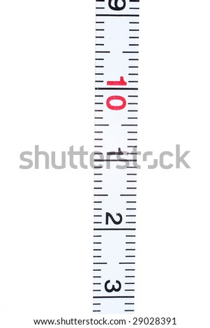 scale division under the white background - stock photo