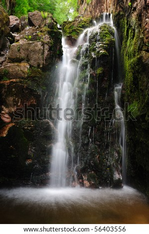 Scale Force waterfall in the English Lake District - stock photo