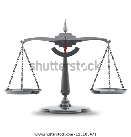 Scale isolated on white background High resolution 3d render - stock photo