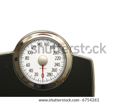 Scale Isolated on White with Clipping Path - stock photo