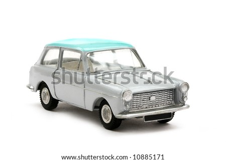 Scale model of 60s English Saloon car
