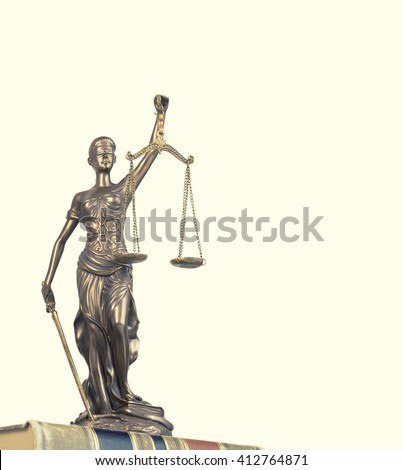 Scale of justice - crime, law legal concept image - stock photo