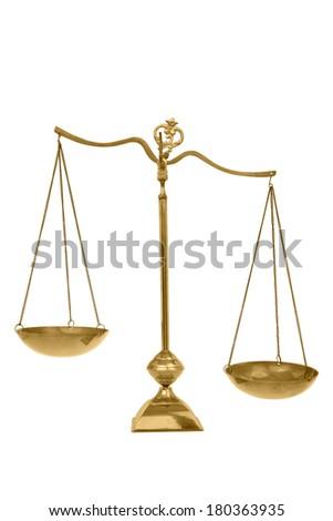 Scale on white background - stock photo