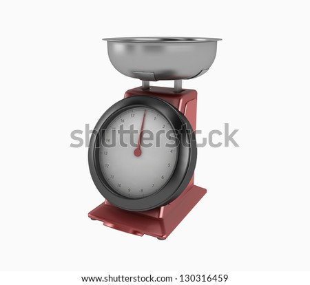 Scale on white background. 3d render - stock photo