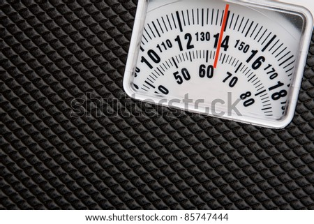 Scale showing weight - stock photo
